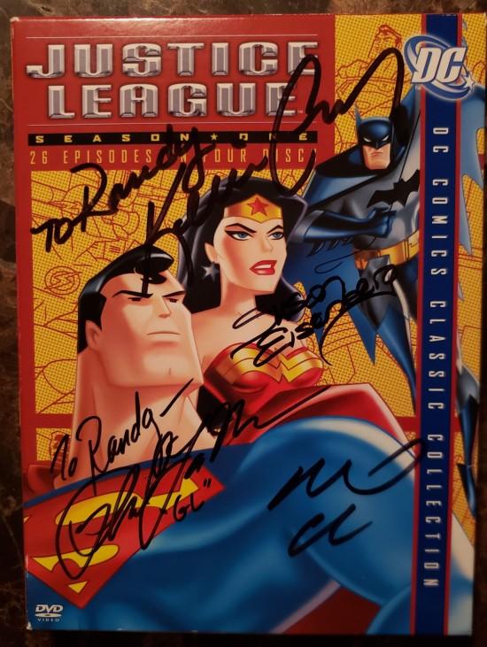 Justice League season 1 autographed!