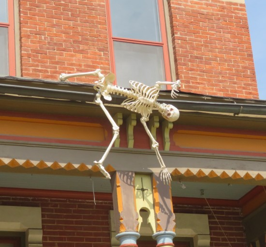 hanging skeleton!