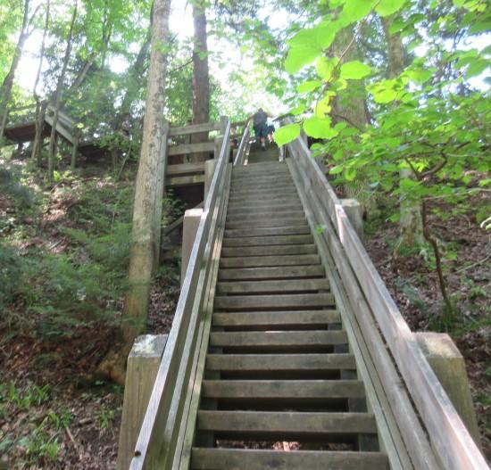 return stairs.