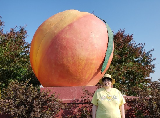 Anne and the giant peach!
