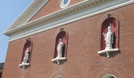 church window statues.
