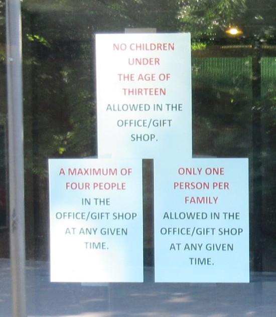 Gift Shop Rules...