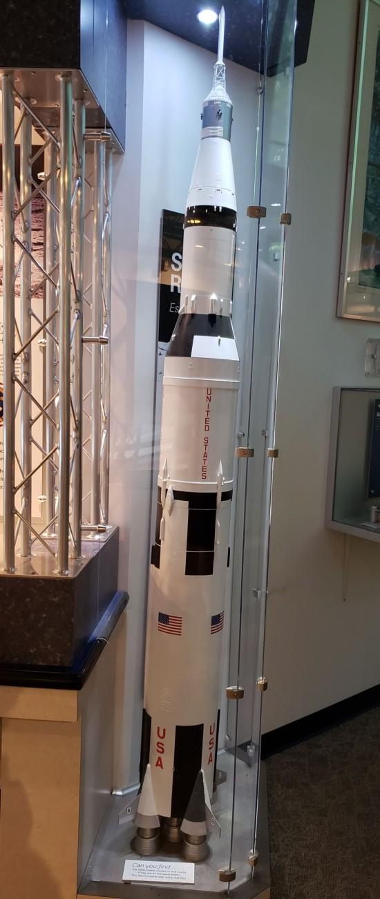 Saturn rocket model!