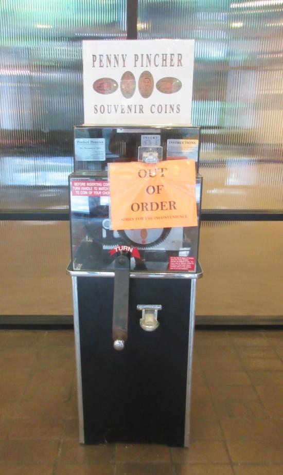 smashed penny machine.
