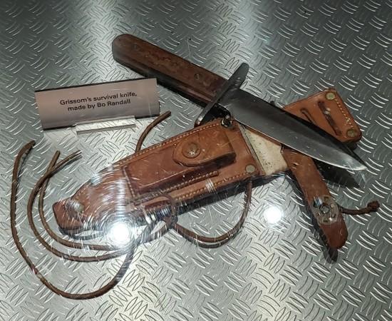 survival knife.