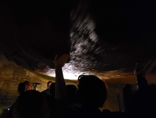touching the ceiling!