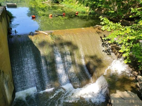 waterfall and buoys!