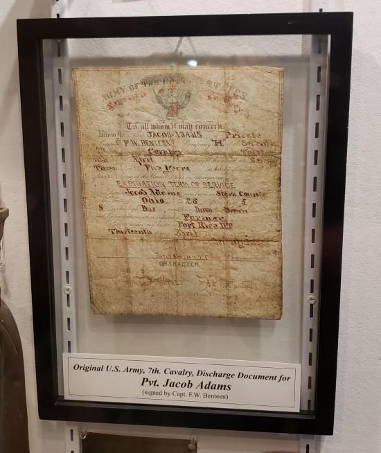 1878 discharge paper!