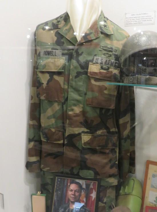 Colin Powell's uniform!