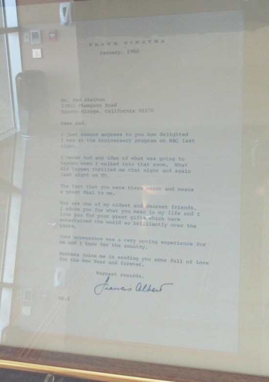 Sinatra thank-you note!