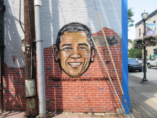 Barack Obama alley art!