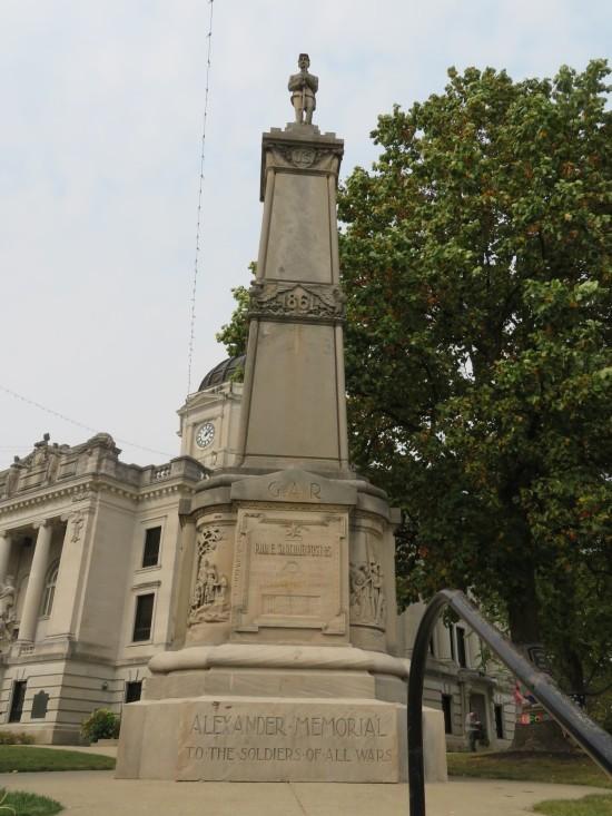 Monroe war memorial!