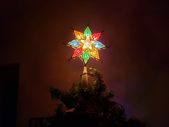 the star on our Christmas tree.