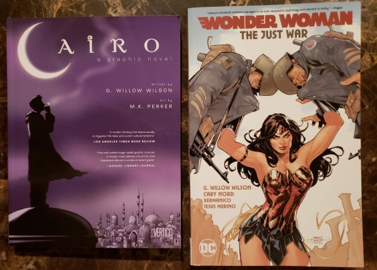 Cairo and Wonder Woman graphic novels.