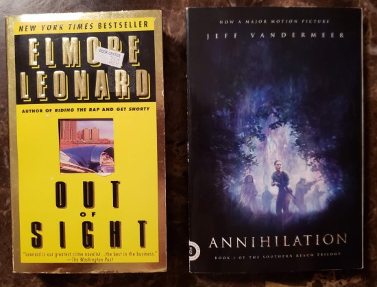 Out of Sight and Annihilation: the books.