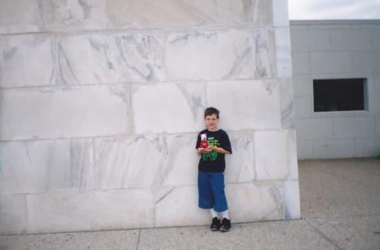 A corner of the Washington Monument.