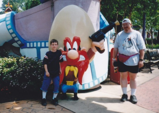 Yosemite Sam statue at Six Flags America.