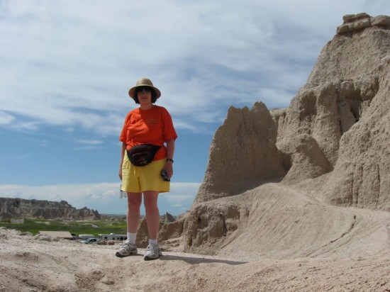 My wife in the Badlands.