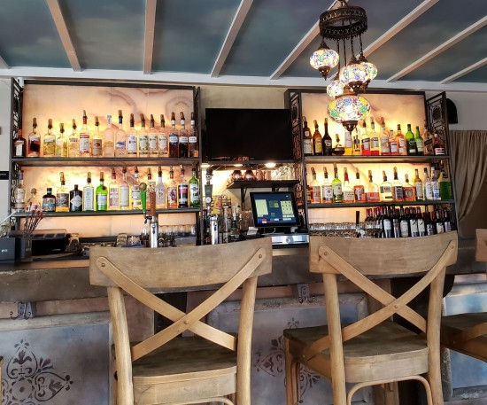 the bar at Canal Bistro.