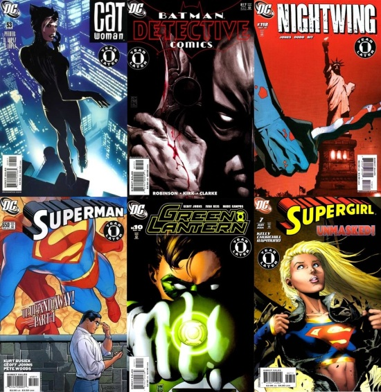"covers from DC Comics ""One Year Later"", 2006!"
