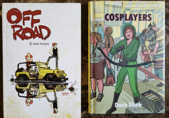 unrelated graphic novels.