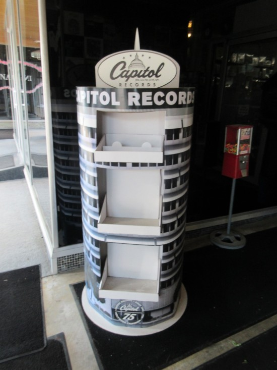 Capitol Records Tower music display.