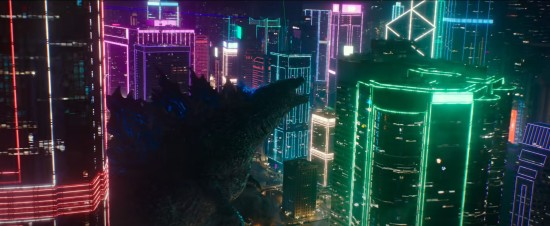 Godzilla at Night in Neon.