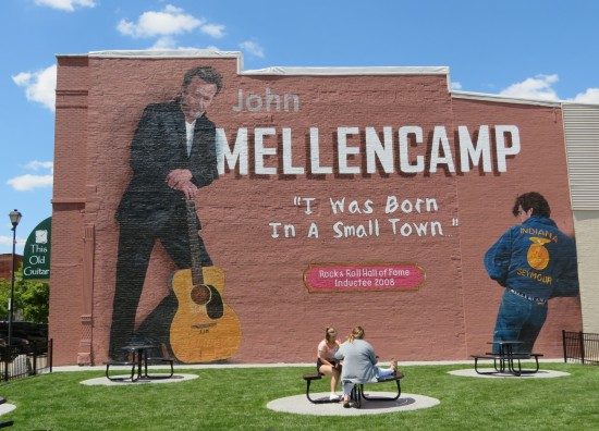 John Mellencamp mural, Seymour, Indiana.