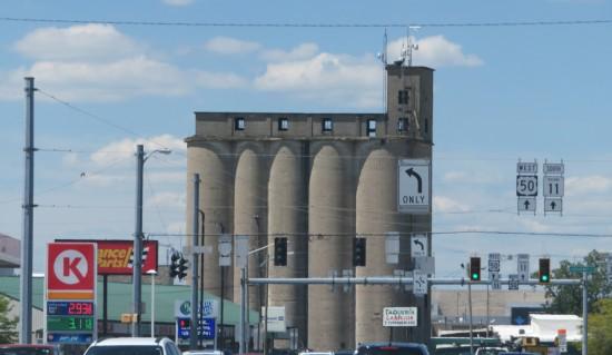 The Blish Mills Grain Elevator in Seymour, Indiana.