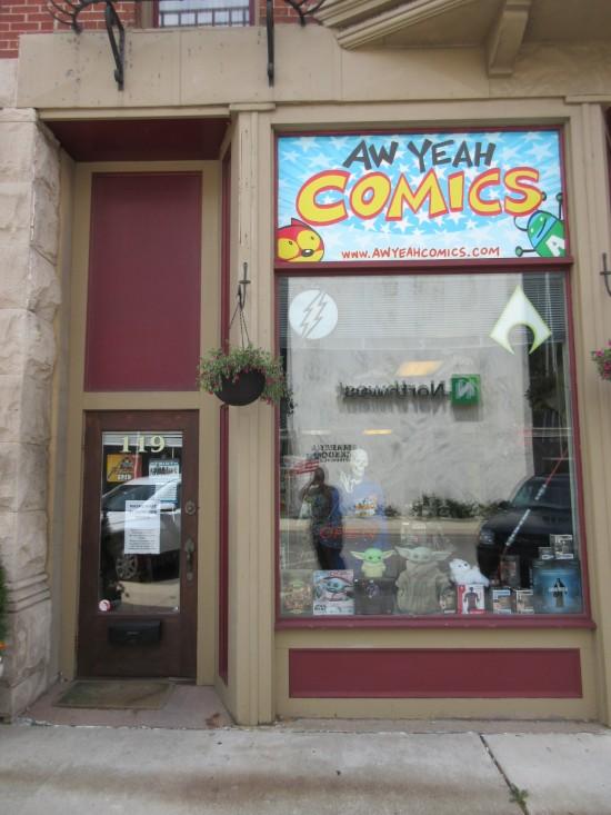Aw Yeah Comics in Muncie, Indiana.