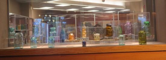 glasses and jars.