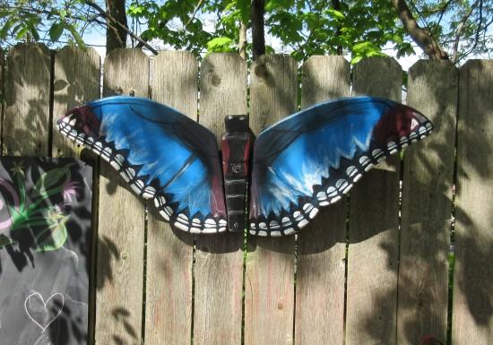 blue butterfly art.