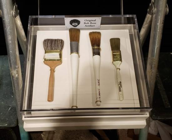 Actual Bob Ross paintbrushes.