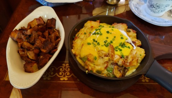 Crab and Bacon Strata at Neely House