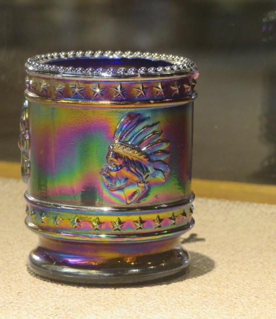 shiny glassware.