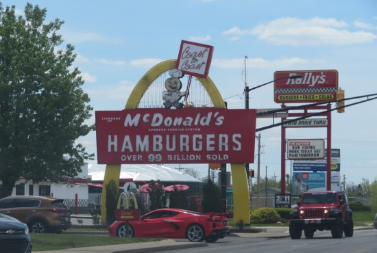 McDonalds old-fashioned sign!