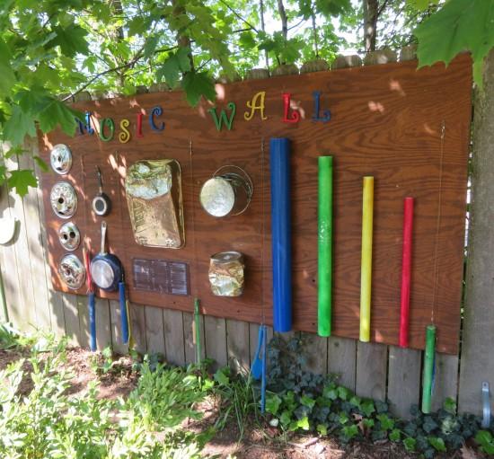 backyard percussion.