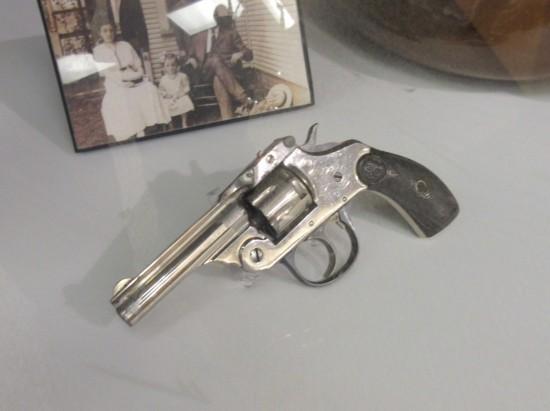 It's a gun.