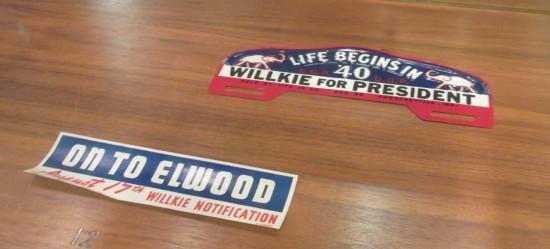 Wendell Wilkie stickers.