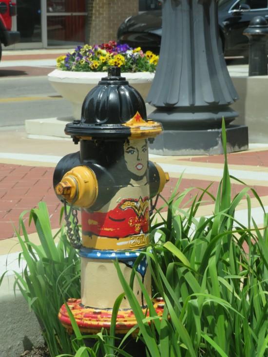 Wonder Woman fire hydrant!