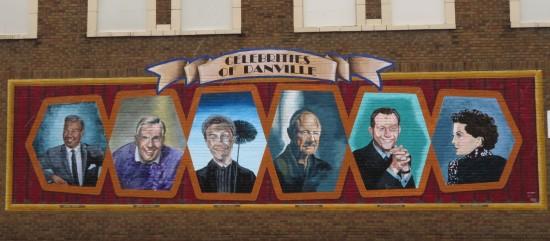 Danville Illinois celebrity mural.