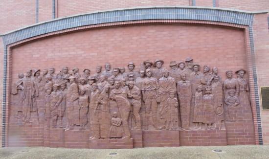 Danville brick mural