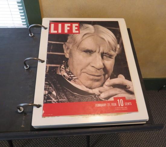 Carl Sandburg in Life Magazine.