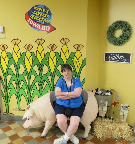 Iowa 80 pig seat!
