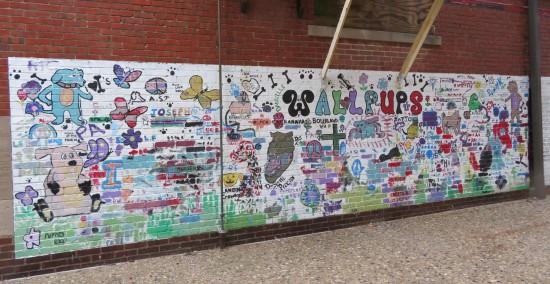 Wallpups mural in Danville, Illinois.