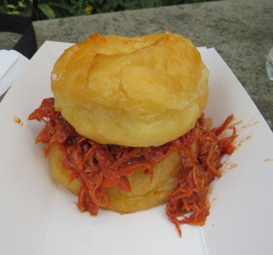 BBQ Suga Momma donut sandwich.