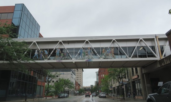 Cedar Rapids pedestrian bridge.