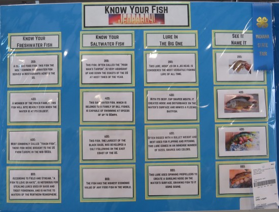 Know Your Fish Jeopardy poster!