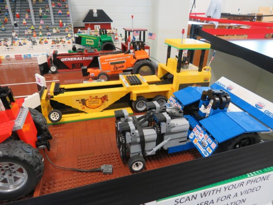 Lego county fair tractor race!