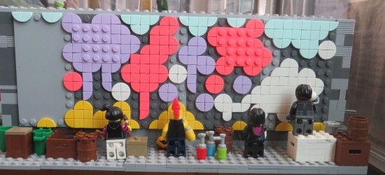 Lego mural painters!